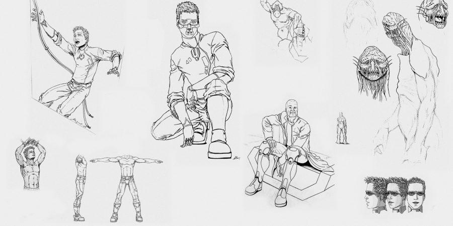 croquis, dessins... recherches pour projets personnel