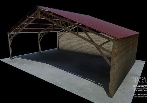 Projet extension hangar démontable